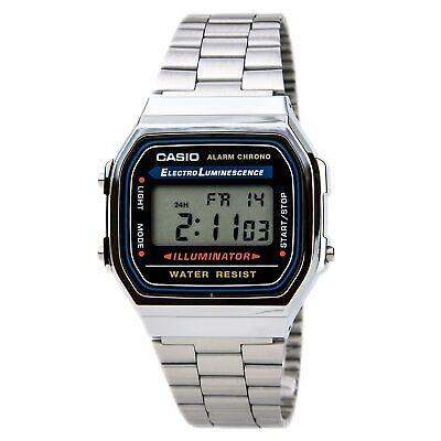 Casio Men's Watch Classic Digital Dial Stainless Steel Bracelet A168W-1