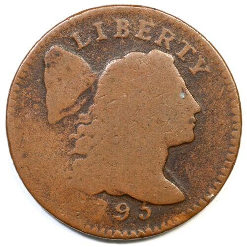 1795 S-74 R-4- Liberty Cap Large Cent Coin 1c