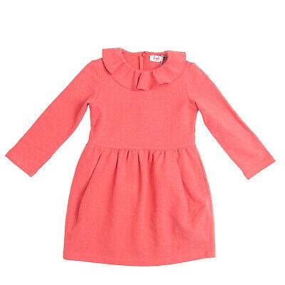 IL GUFO Sheath Dress Size 4Y Garment Dye Pleated Long Sleeve Made in Italy