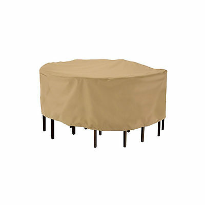 Terrazzo Round Patio Table Chair Set Furniture Cover - -