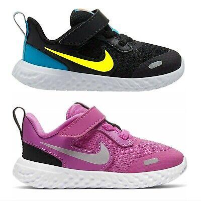 Scarpe da bimbo/a Nike Revolution 5 BQ5673 610 o 076 Ginnastica Strappo 2 COLORI