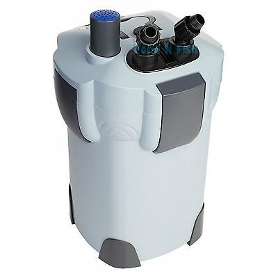 3-STAGE 265 GPH AQUARIUM CANISTER FILTER + 9W UV STERILIZER FRESH/SALT 75 Gallon
