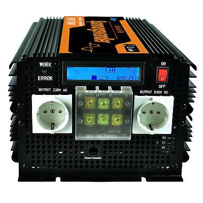 Spannungswandler 3500W 7000W 12V auf 230V Reiner Sinus Wechselrichter Softstart