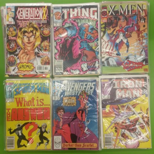 50 Random Marvel Comic Books Iron Man, Captain America, X-Men, Hulk, Wolverine