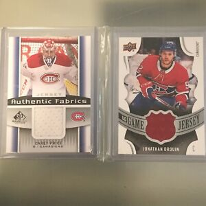Double Habs jersey Price + Drouin upper deck card
