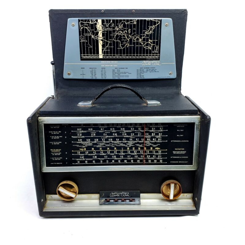 For Repair VTG Hallicrafters Tube Radio World-Wide Receiver TW-1000 Powers On