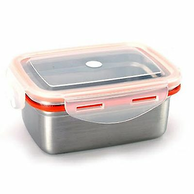Food Storage Container STENLOCK Stainless Steel Side lunch Box Rectangle no 4