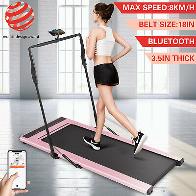 Treadmill 2in1 Folding Treadmills Fitness Running Remote Control w / Smart Band