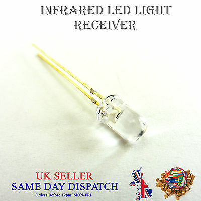 Led-receiver (940nm Infrared LED Receiver Transparent 5mm IR High Power Lamp)