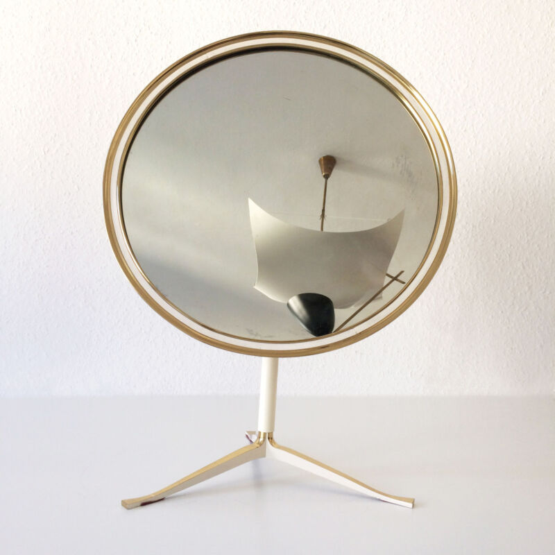Xl Mid Century Modern Table Mirror | Side Table | Vereinigte WerkstÄtten Germany