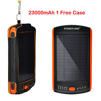23000mAh Solar Backup Power Bank Charger External Battery For Laptop 12V 16V 19V on Rummage