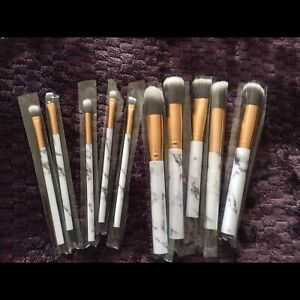 Marble design makeup brush set (brand new)
