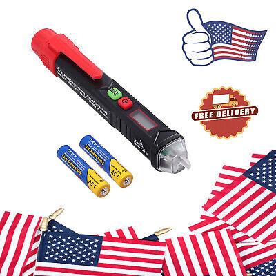 Non Contact Voltage Tester Pen Dual Range Sensitivity Ac Detector 12v 48v-1000v