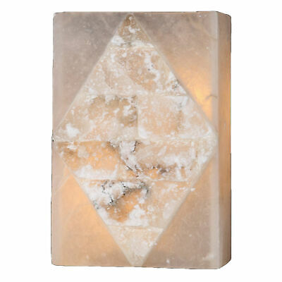 CLEARANCE Natural Quartz Stone 2 Light Flemish Brass Wall Sconce Small ADA -