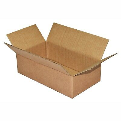 Pack of 100 small cardboard boxes 235mm x 135mm x 65mm - single wall