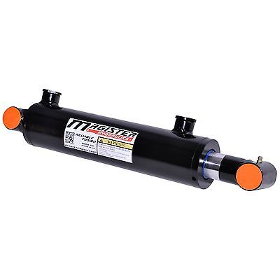 Hydraulic Cylinder Welded Double Acting 3 Bore 8 Stroke Cross Tube End 3x8 New