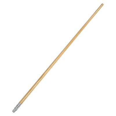 Carlisle 4526700 Lacquered Wood Broom Handle with Metal Threaded Tip, 60