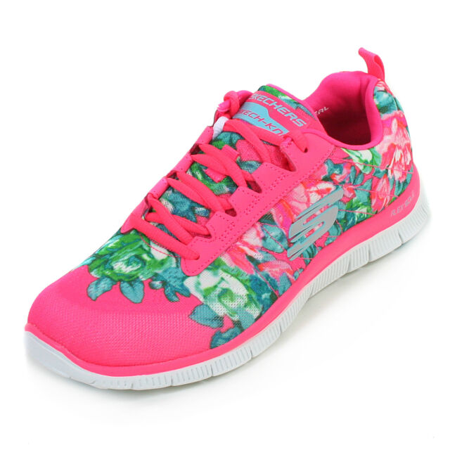 Skechers Womens Flex Appeal - Wildflowers Trainer. Memory Foam Insole. 12448