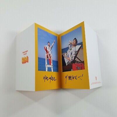BTS Butter Official Original Folded Message Card 1p Rap Monster K-POP Photo Card