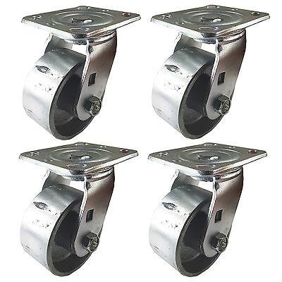 4 X 2 Steel Wheel Caster - 4 Swivels