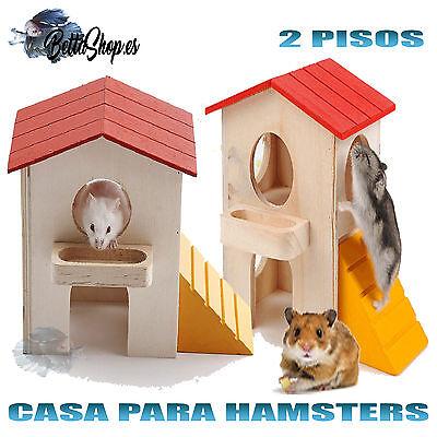 CASA PARA HAMSTERS CASAS DE HAMSTERS CASA HAMSTER REFUGIO ROEDORES DE MADERA