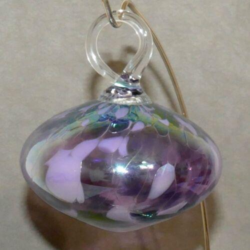 Christmas Ornament ART Glass ONION IRIDESCENT Purple Lavender USA SELLER