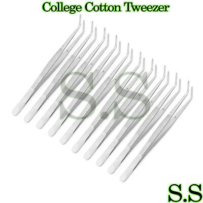 12 Cotton Pliers College Dental Surgical Instruments