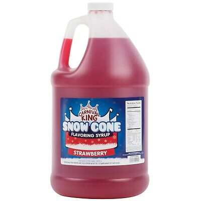 4 Case 1 Gallon Strawberry Snow Cone Snowballs Frozen Beverage Drink Syrup