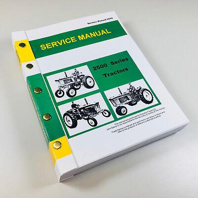 Service Manual For John Deere 2510 Tractor Repair Shop Technical Shop Book