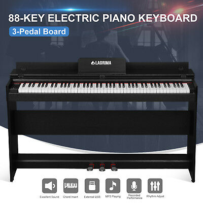 88 Key Music Electric Digital LCD Piano Keyboard with Stand+Adapter+3Pedal Board