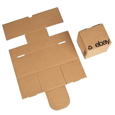 Ebay-branded Boxes With Black Color Logo 4x4x4 Flat Folding