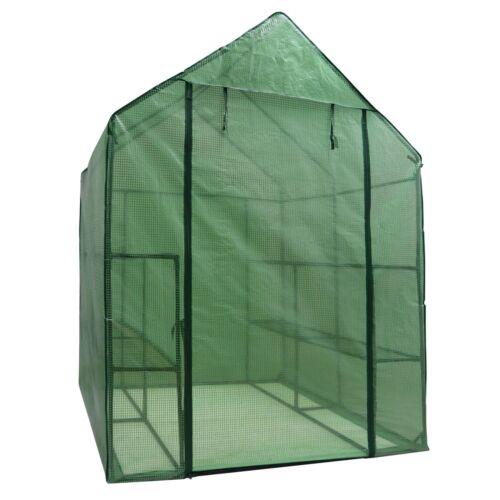 8 Shelves Walk In Door Outdoor 3 Tiers Green House for Planter Portable Mini Garden Structures & Shade