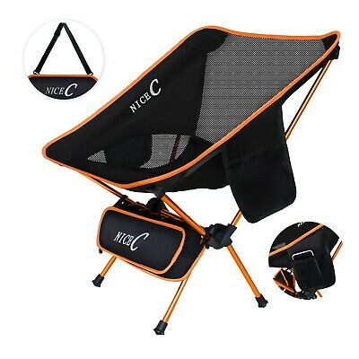 Backpack Folding Chair (NiceC Ultralight Portable Folding Backpacking Camping Chair with 2 Storage Bags  )