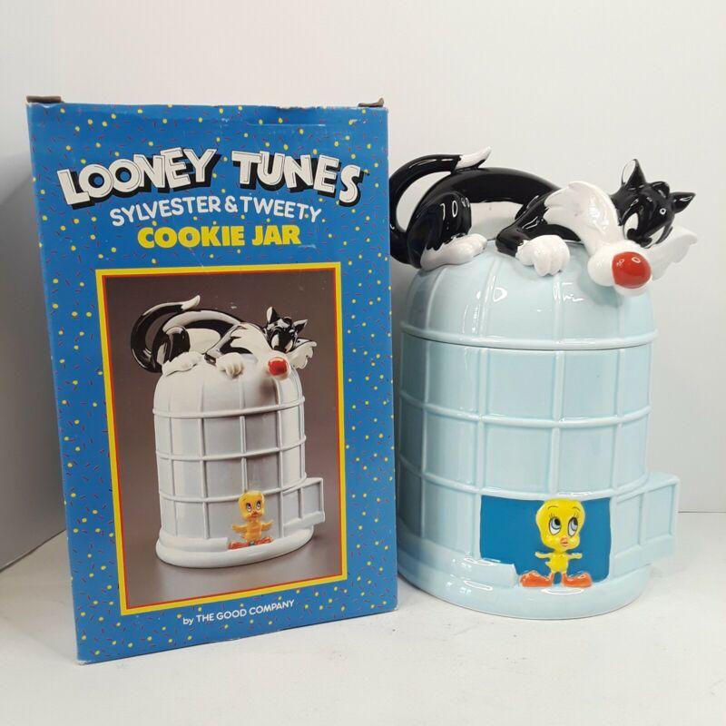Vintage 1989 Sylvester & Tweety Cookie Jar Canister Warnerbros Looney Tunes