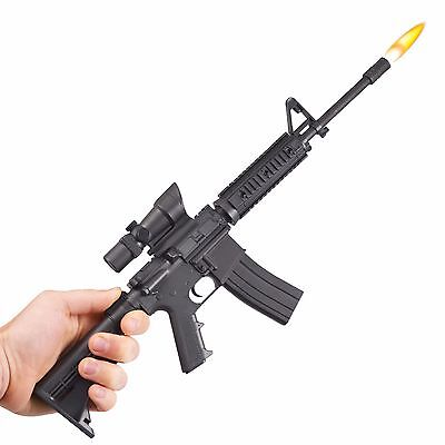 Gibson AR-15 Refillable Butane Grill & BBQ Gun Lighter w/Scope