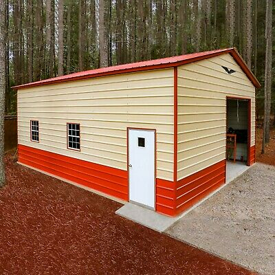 24x30x12 Steel Garage Priced For Tx-va Free Del. Installation Prices Vary