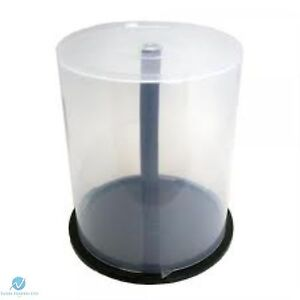 1 X CD DVD Plastic Cake Tub holds 100 Disks Spindle Storage Box Empty NEW Case