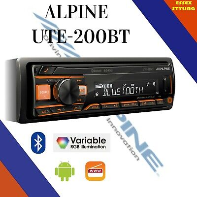 Alpine UTE-200BT Car Bluetooth Android Car Stereo AUX USB New In