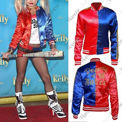 Misfits Halloween Kostüme (Kids Girls Red Blue Cosplay Halloween Costume Shiny Misfit Suicide Squad Jacket)