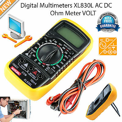 Digital LCD Voltmeter Multimeter Ammeter AC DC OHM Circuit Tester Checker Buzzer