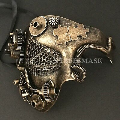 Halloween Black Gold  Burning Man Phantom Steampunk  Costume Party Half  Masks (Halloween Costumes Black Man)