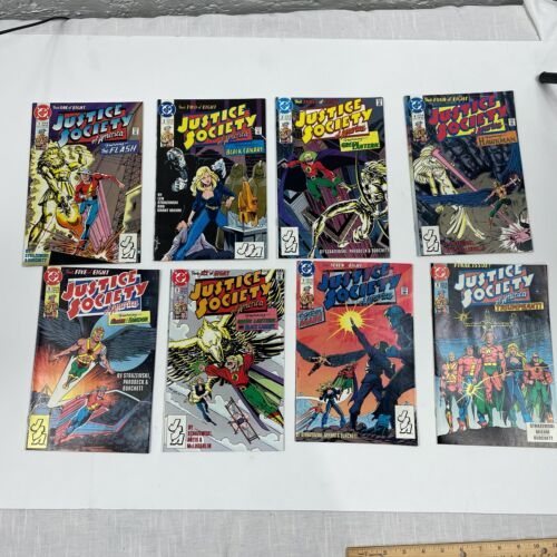 Justice Society of America 1-8 1991 Complete Set DC 8 Book Lot