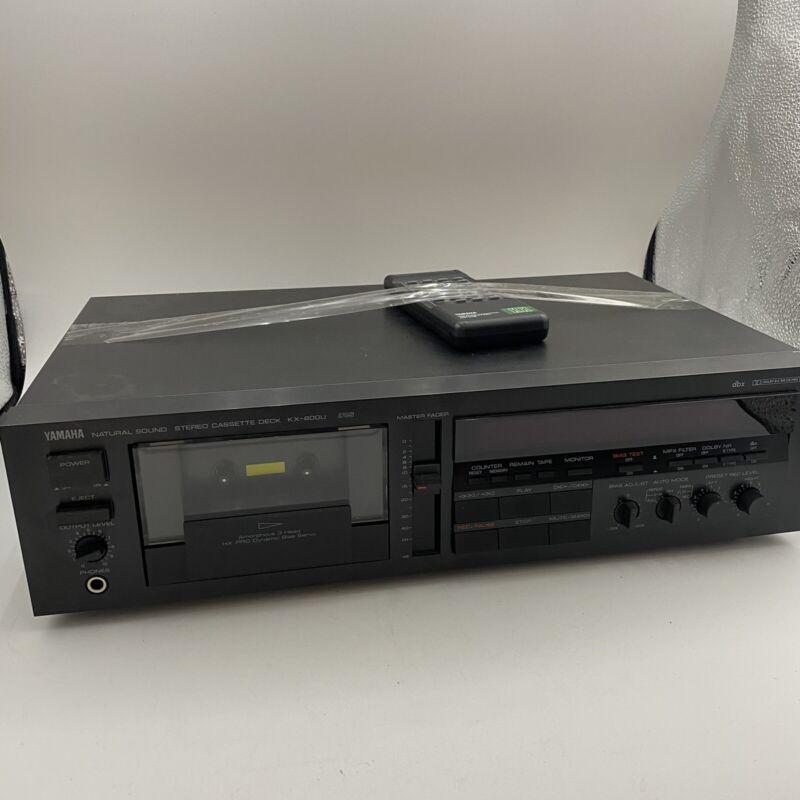 Yamaha KX-800U 3 Head Has Remote! Tested Works! Clean unit