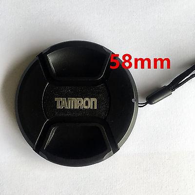 Bouchon cache de remplacement + Dragonne lens cap 58mm pour Objectif Tamron