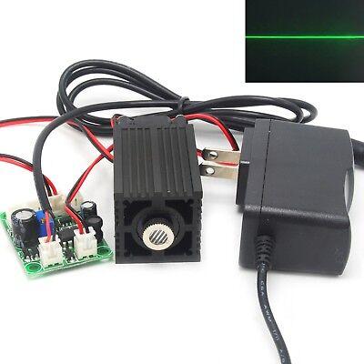 532nm 100mw Green Line Light Focusable Laser Diode Module 12v Adapter Driver Ttl