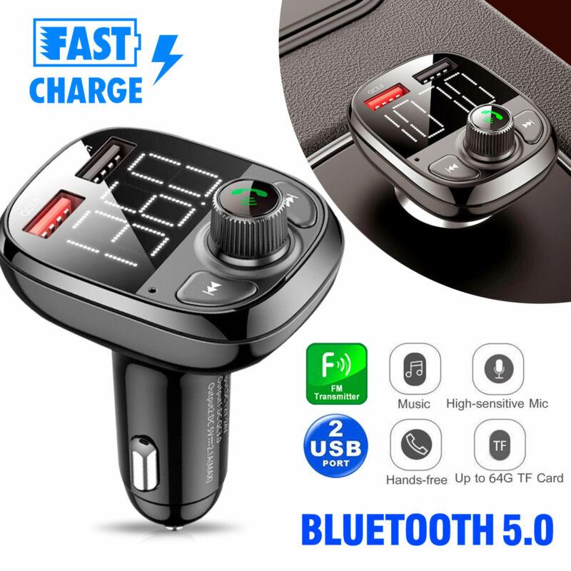 Bluetooth Car FM Transmitter Handsfree Qc3.0 USB Charger Mp3 Radio Adapter Kit