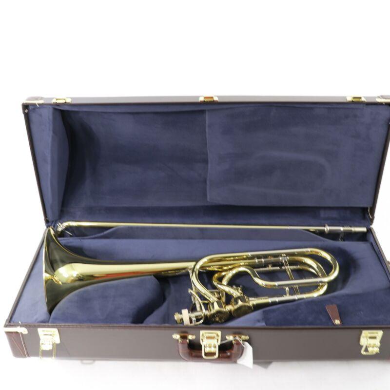Bach 50A3 Stradivarius Bass Trombone with Dual Hagmann Valves SN 221280 OPEN BOX