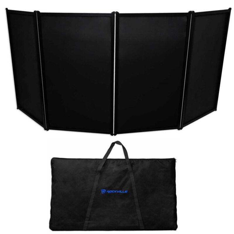 Rockville RFAAC DJ Event Facade Light Weight Metal Frame Booth+Travel Bag+Scrim