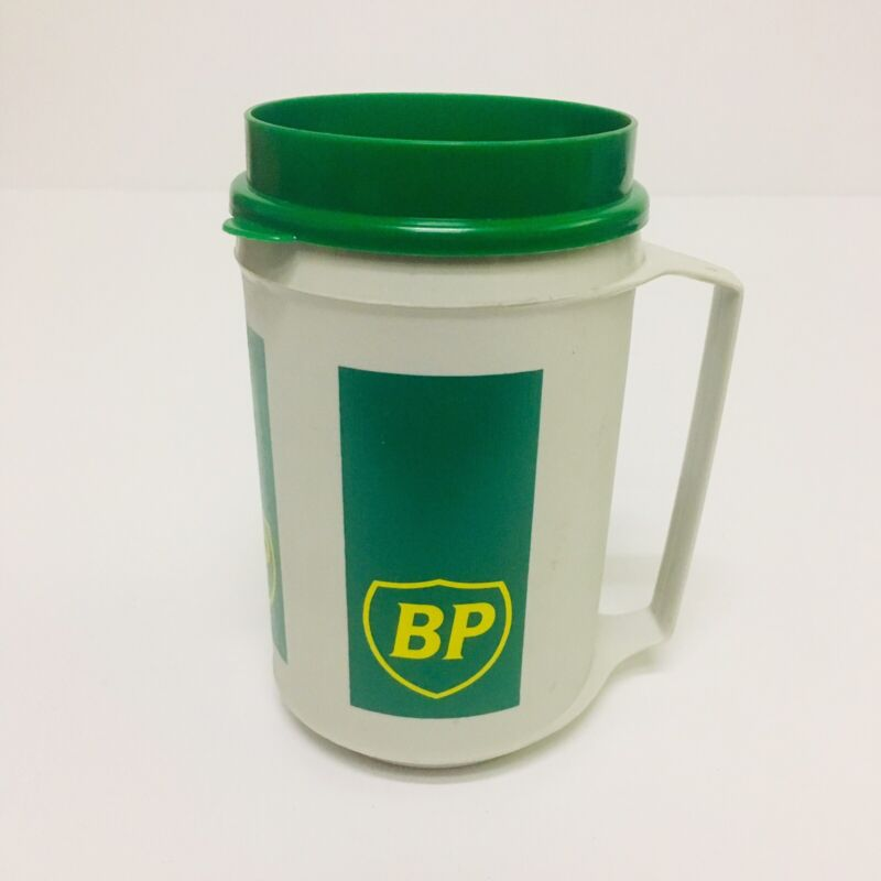 BP British Petroleum Oil Conpany Vintage Logo Aladdin Coffee Mug Travel Cup