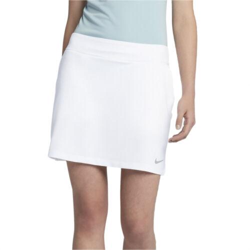 """NIKE Womens Dry 16.5"""" Golf Skort Skirt, White, PICK SIZE"""